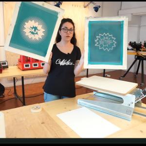 stampa transfer serigrafici con banco manuale serigrafia